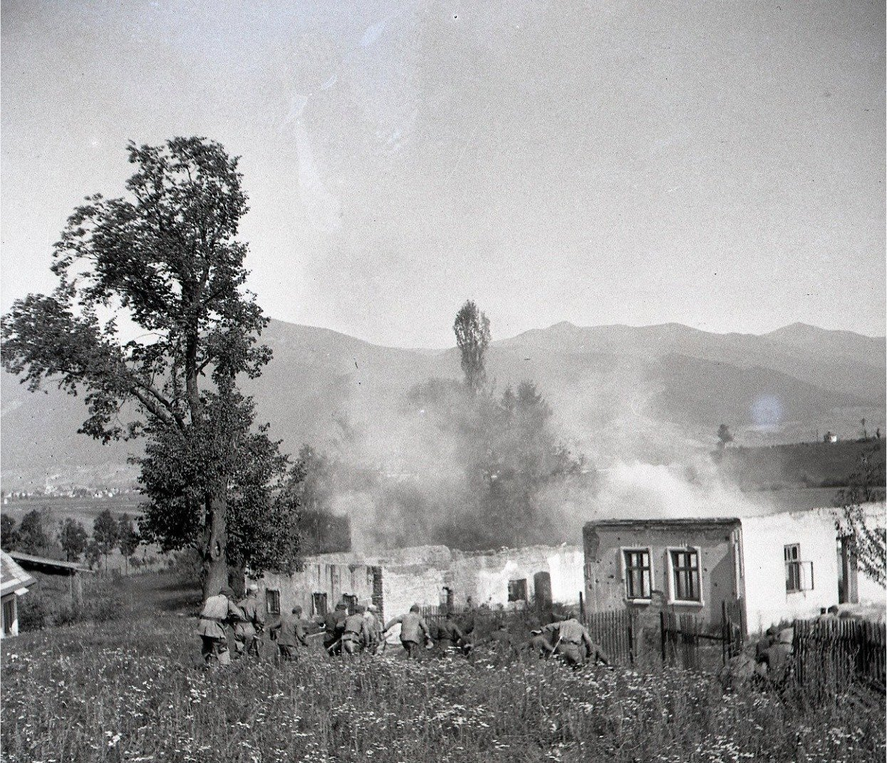 1945 - útok partizánov v košútoch - rekonštrukcia