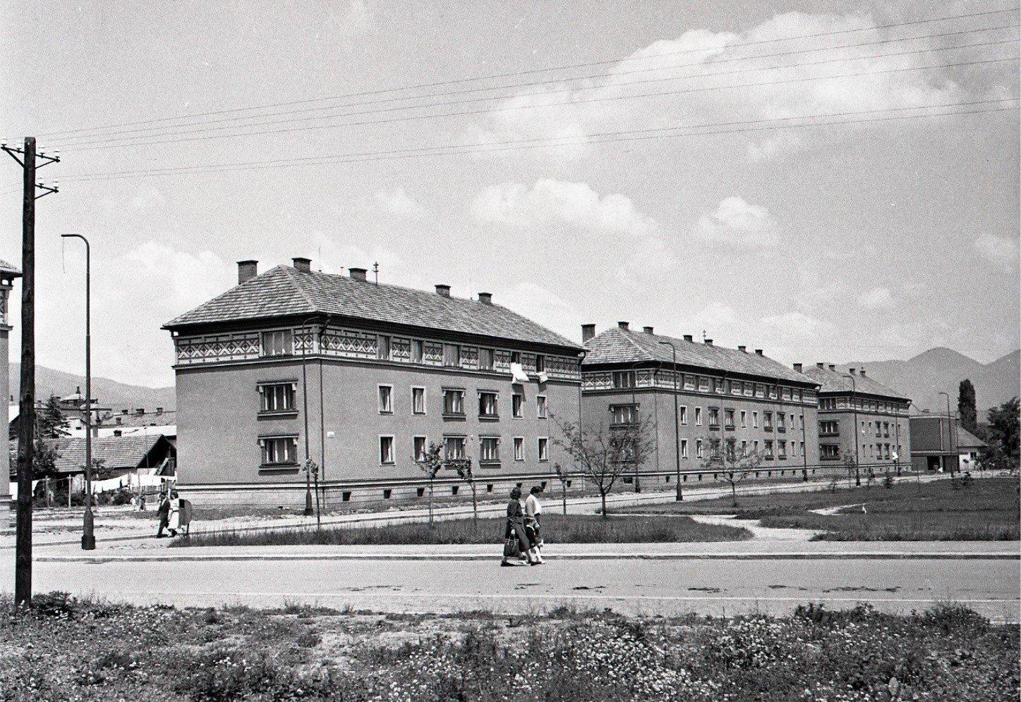 1956 - nové obytné bloky v Martine
