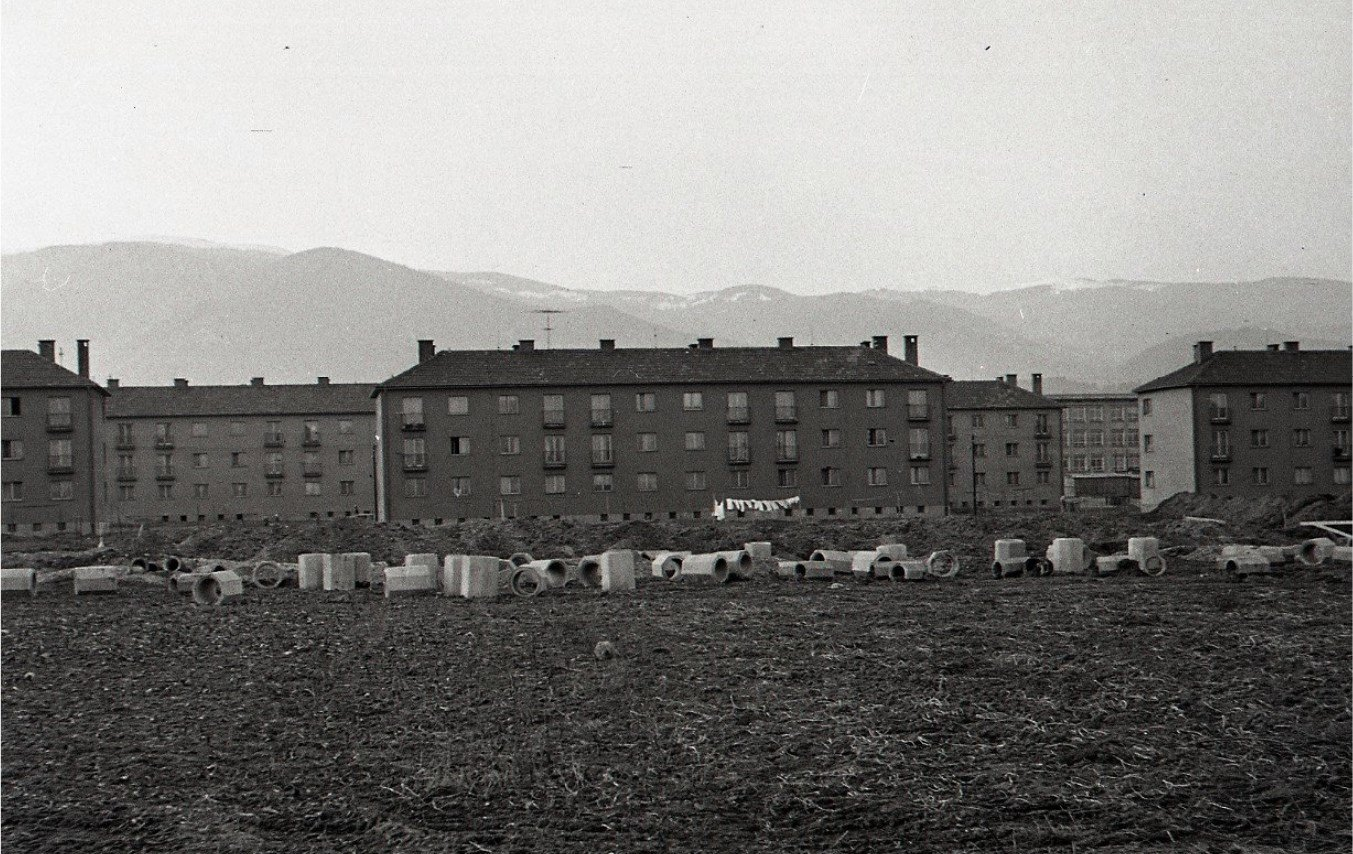 1960 - Zábery z výstavby nového Moderného, Podháj
