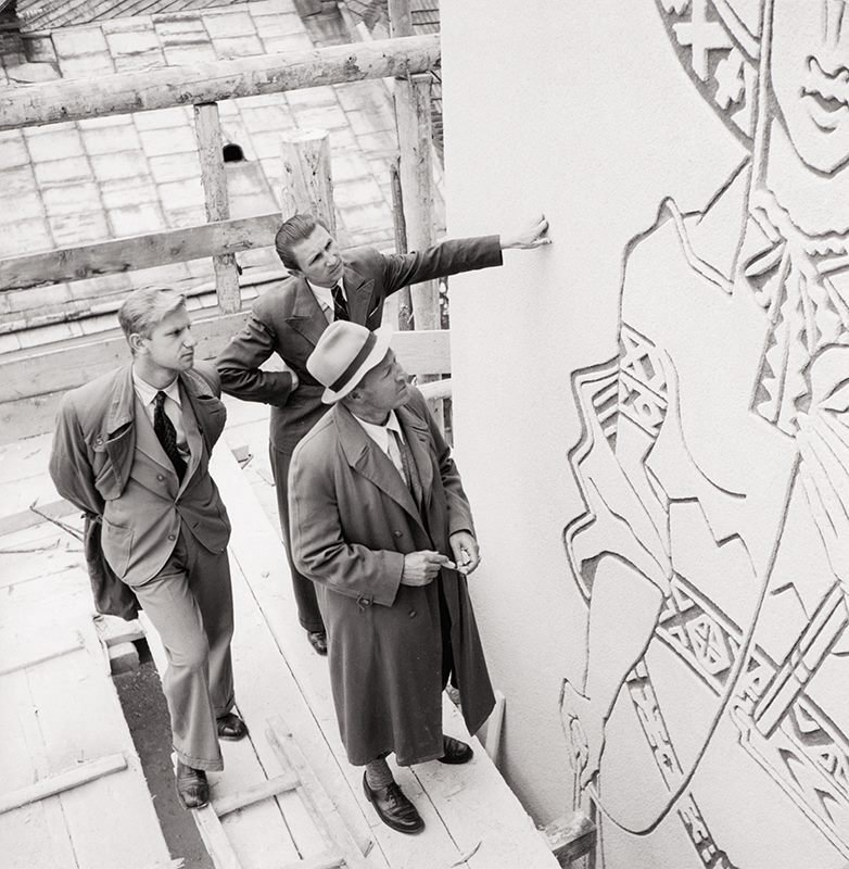 Fotografia stavby RVP, 1940