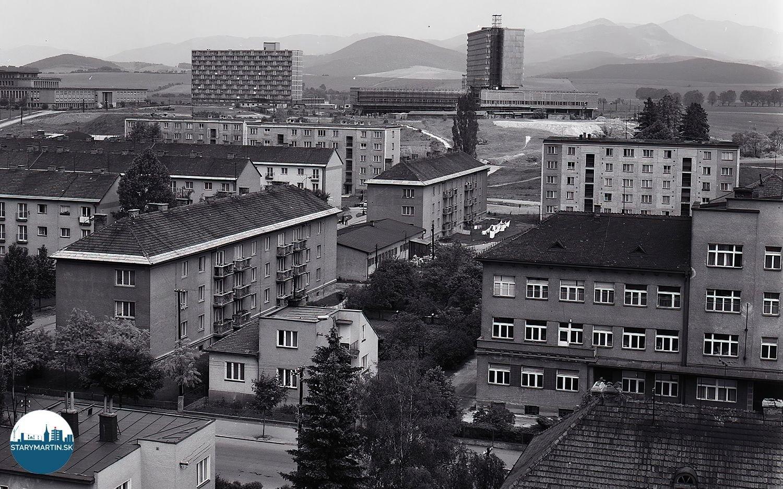 Ikonický pohľad na bytovú zástavbu, v pozadi s Maticou slovenskou, 26.07.1974, TASR.
