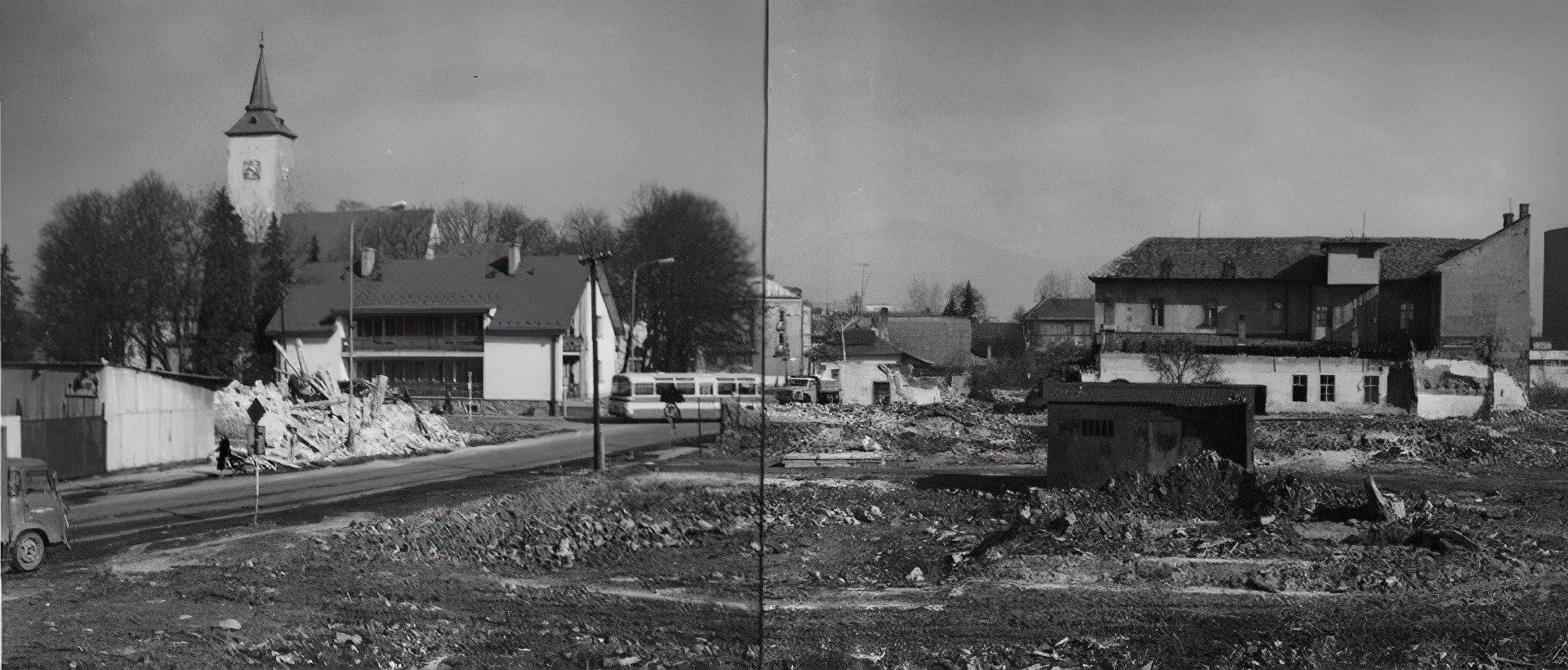 70te roky, ulica Jesenkého, stavba dvojprúdovky