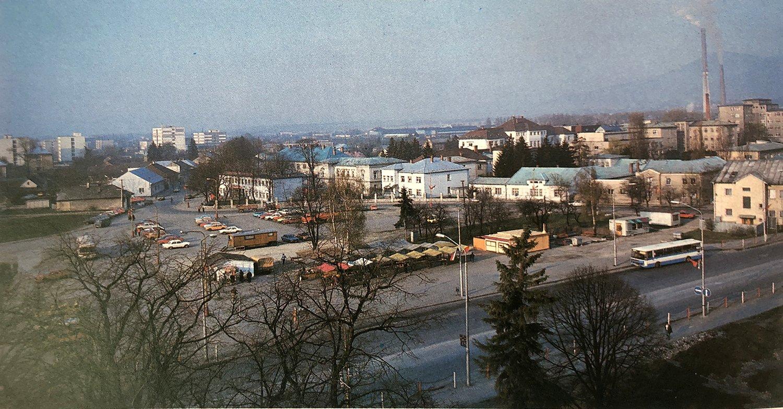 Pohľad na nemocničný areál, 80te roky