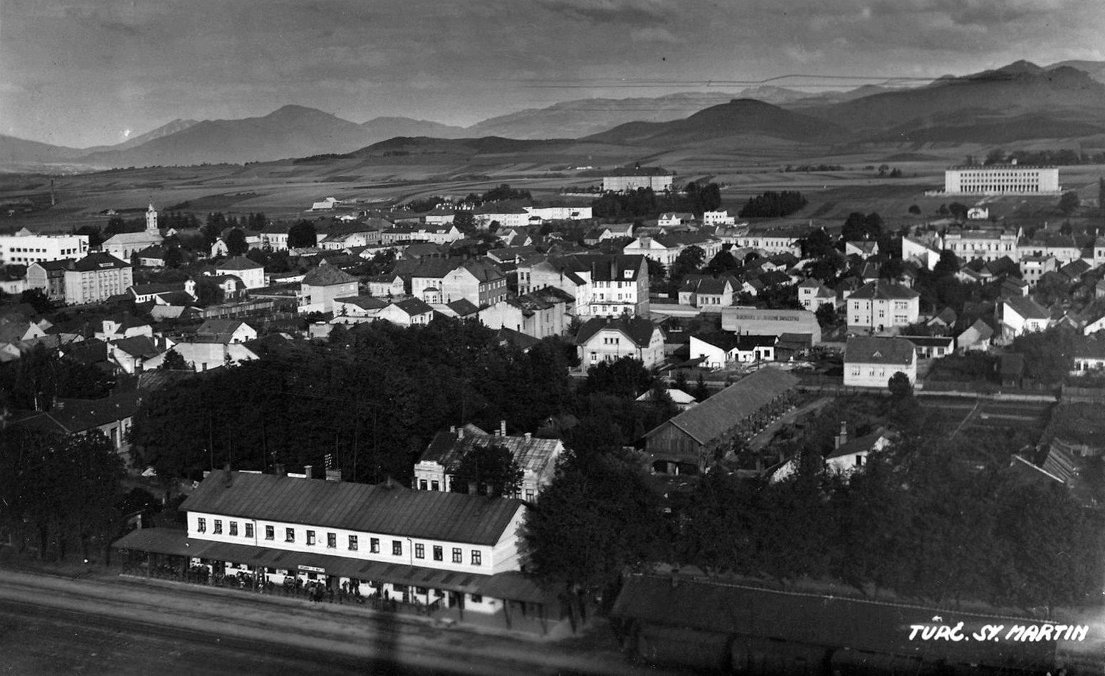 Martinská stanica kedysi, 40te roky