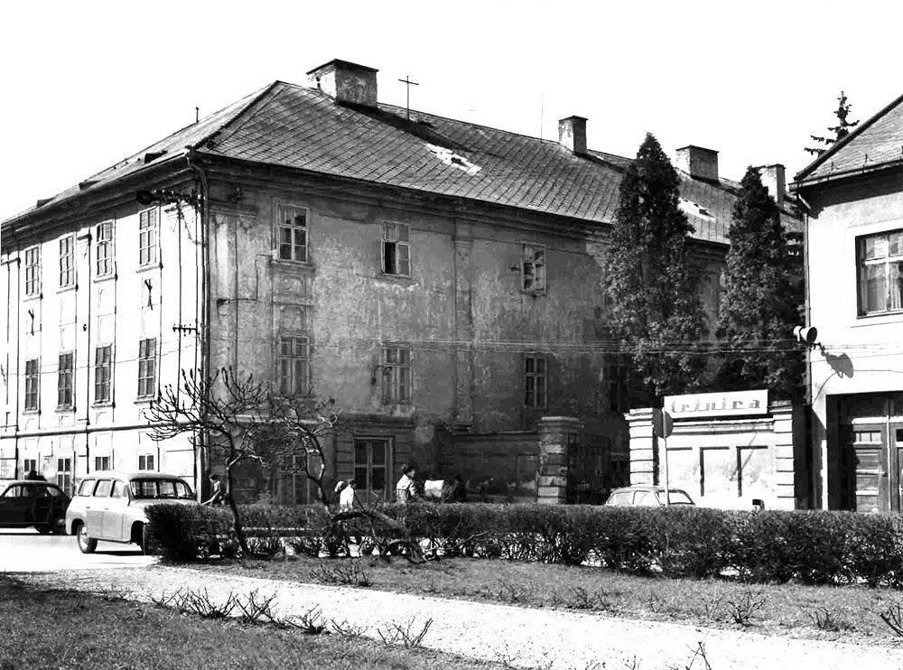 Pohľad na koniec jednosmerky, župný dom, 60te roky