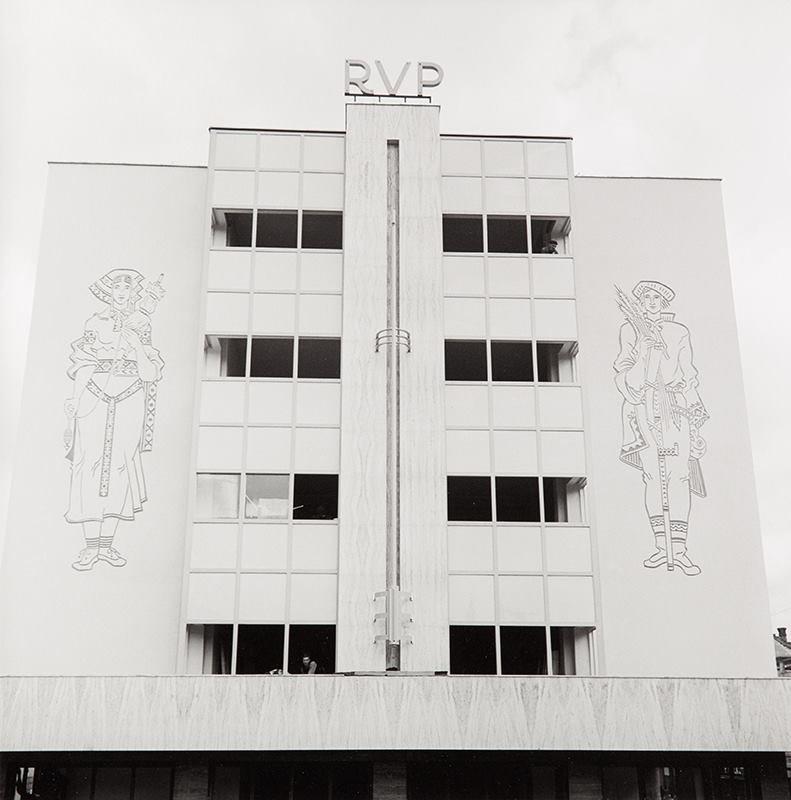 Stavba RVP (vtedy roľnícka vzájomna pokladnica), 1940