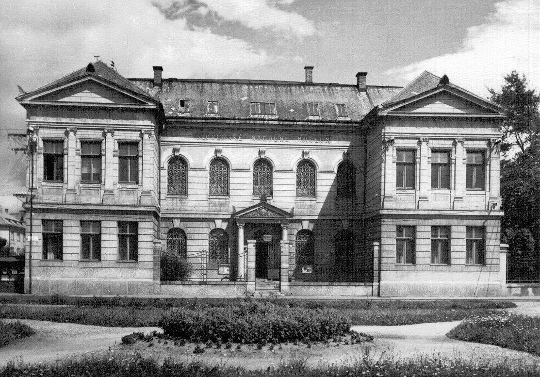 Terajšie Múzeum Andreja Kmeťa aj s nádvorím - 60te roky
