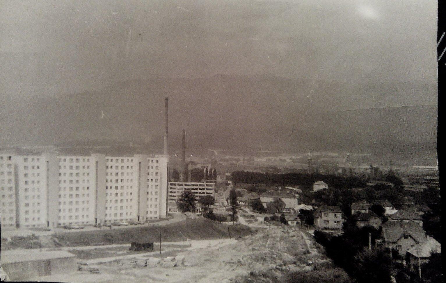 Výstavba ľadovne, 70te roky