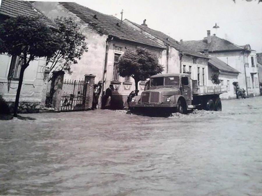 Zatopená ulica kuzmányho, 60te roky