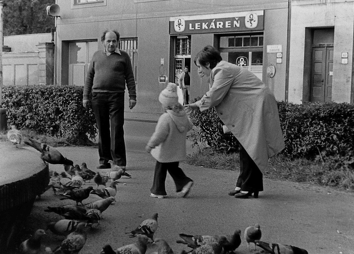Fontána, centrum, 80te roky