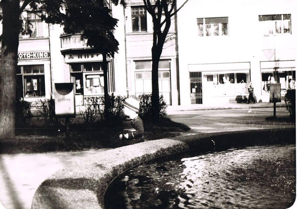 Fontána v centre, 80te roky