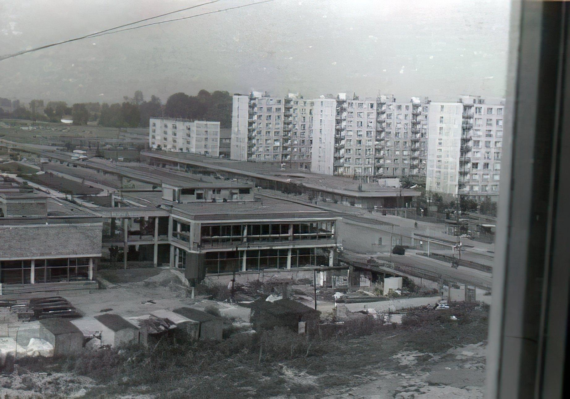 Výstavba centra Kocka, 1973