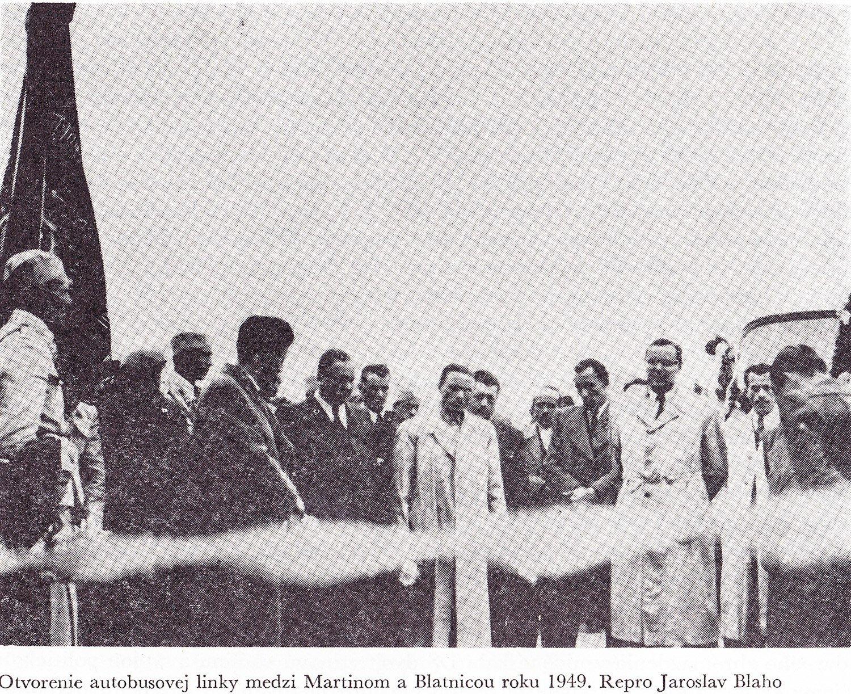 Linka medzi MT a Blatnicou, 1949