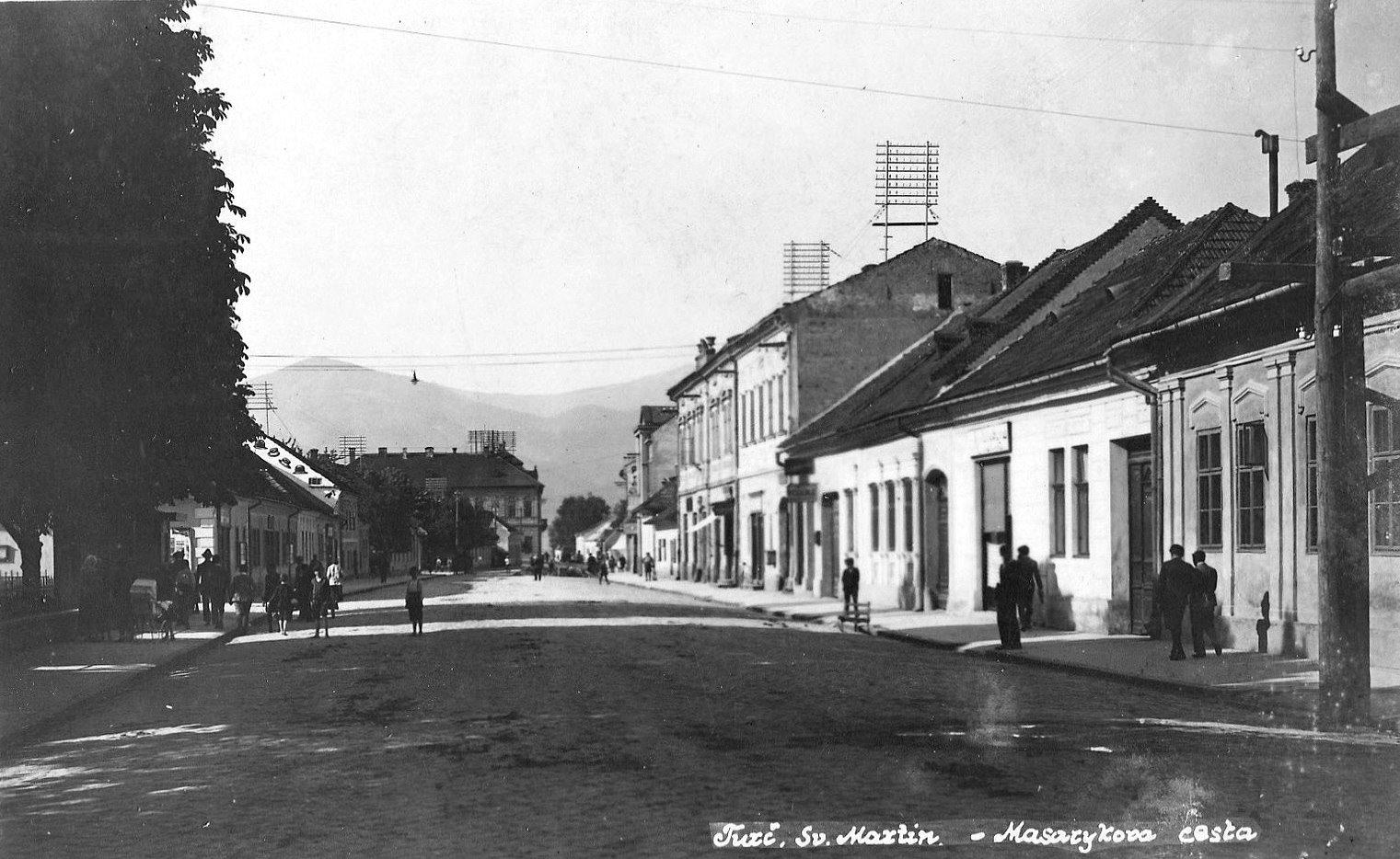 Masarykova cesta, 30te roky
