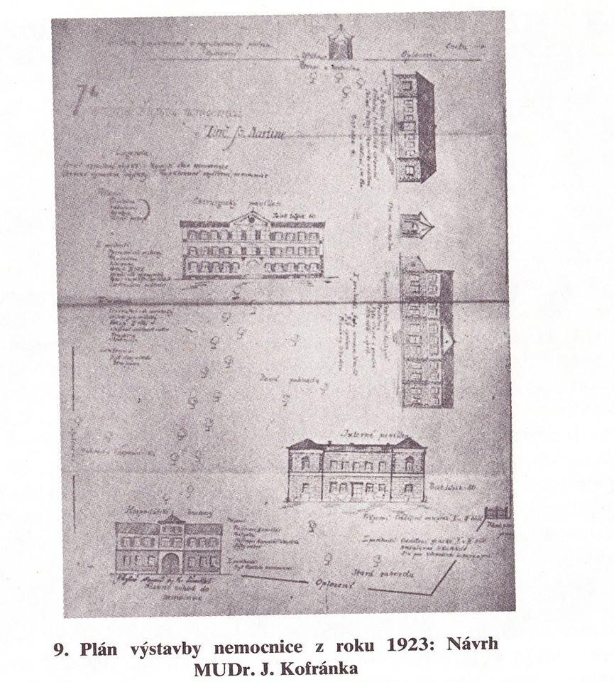 Plán výstavby nemocnice, 1923