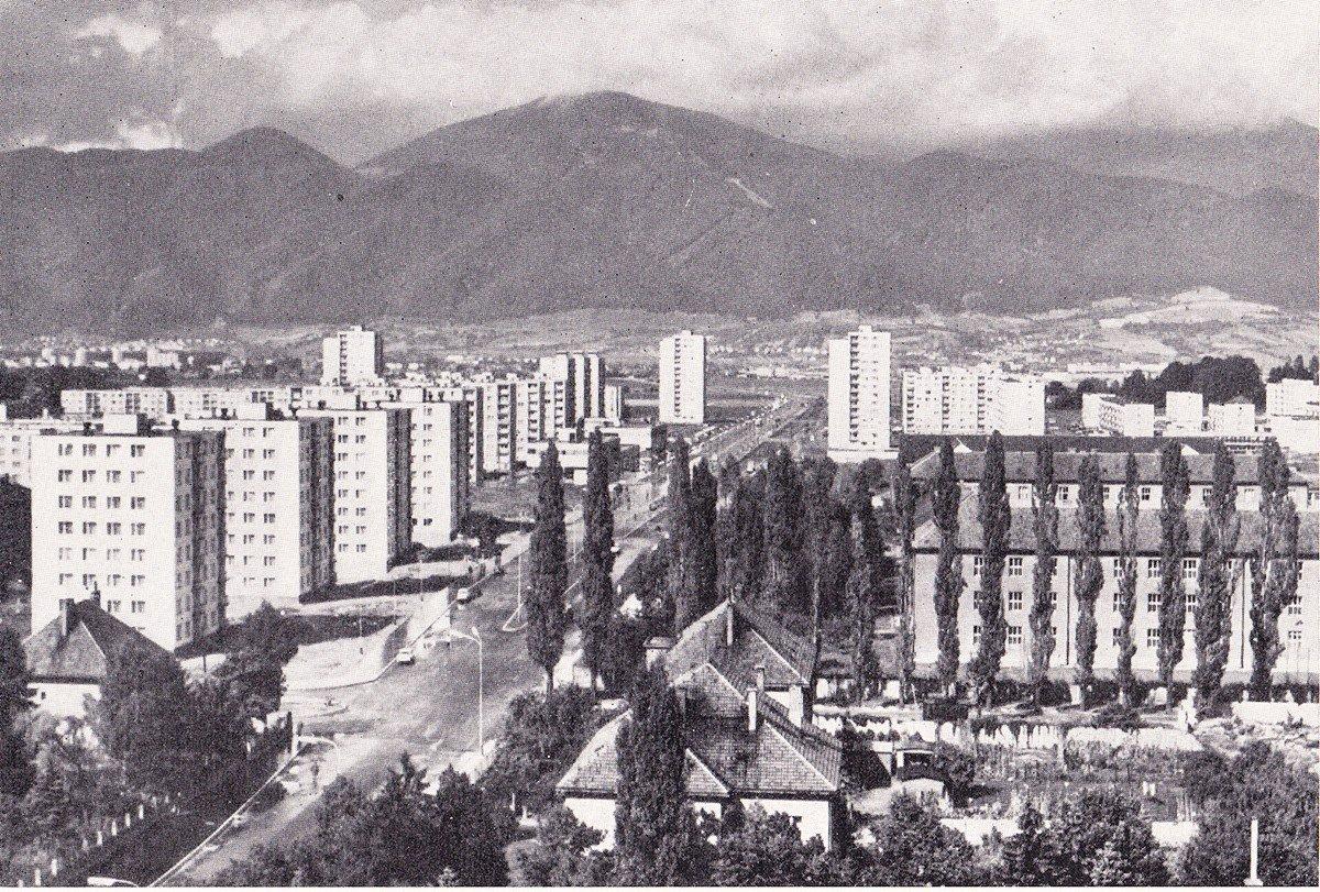 Pohľad na mesto, sever, 70te roky