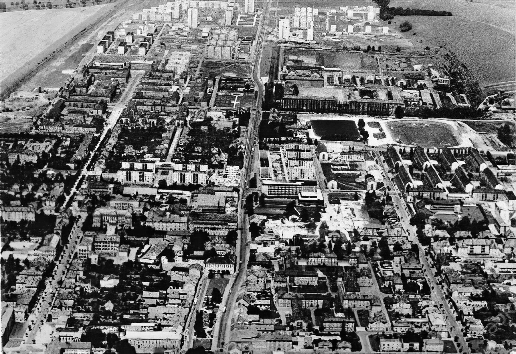 Pohľad na mesto, 60te roky