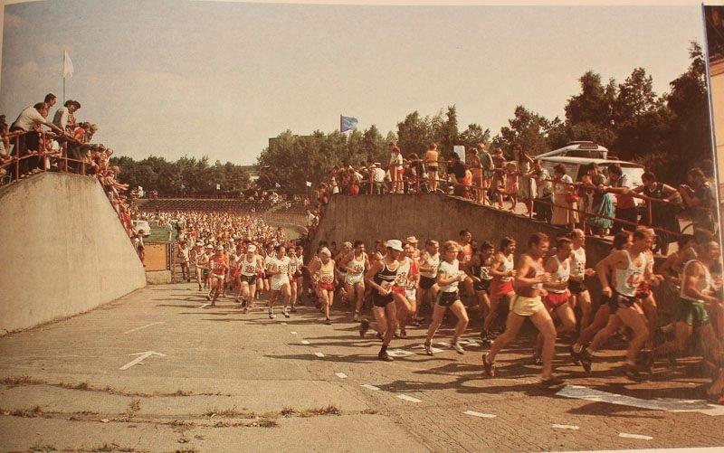 Martinský štadión, beh, 80te roky
