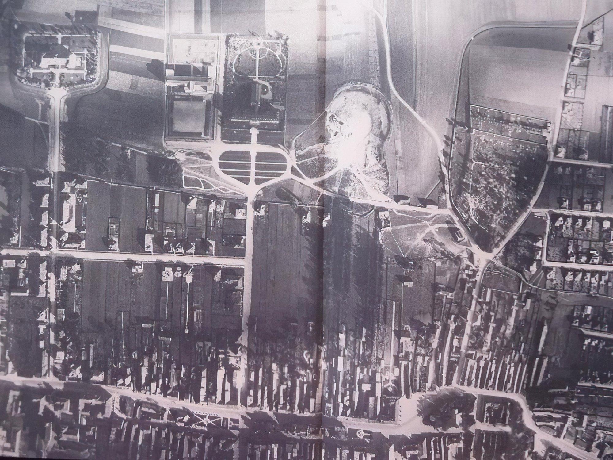 Letecký záber na mesto, 50te roky